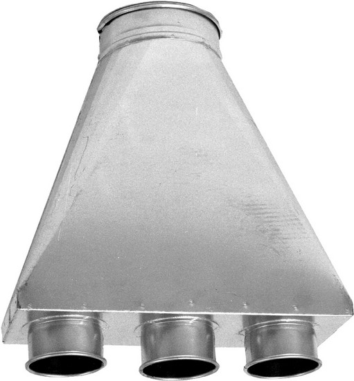 Industrial Dust Hood : Suction hood with pick ups dust pipe ducting hermance